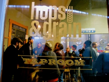 Hops & Grain has a nice tap room where you can hang out, sample beers and get to know head brewer Josh Hare or any of the other great Hops & Grain staff! Their design work was done by locals Derrit DeRouen of DeRouen & Co. in partnership with Larry McIntosh of The MAD House.