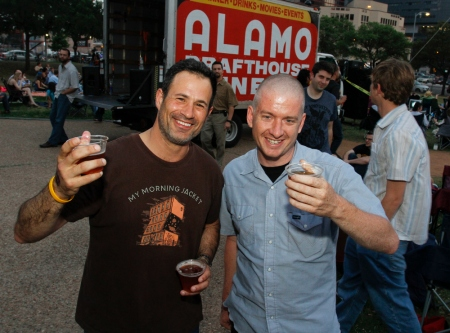 Dogfish Head's Sam Calagione & Alamo's Tim League Photo Courtesy of Off-Centered Film Fest