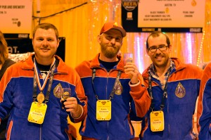 The always stylish Austin Beerworks crew were more than happy to accept their Gold medal for Black Thunder in their matching, bedazzled velour track suites.