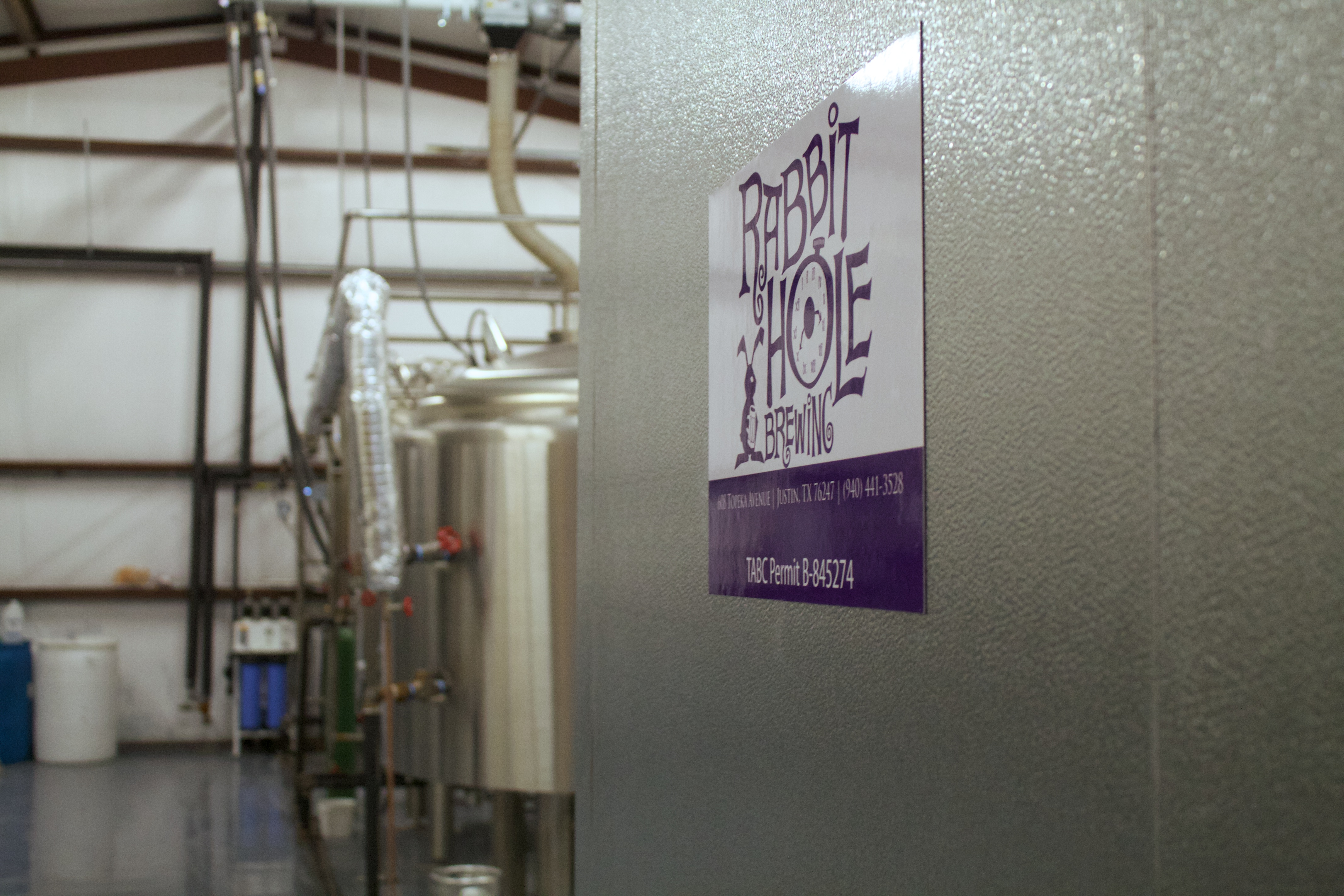 A look inside Rabbit Hole Brewing in Justin,Texas.