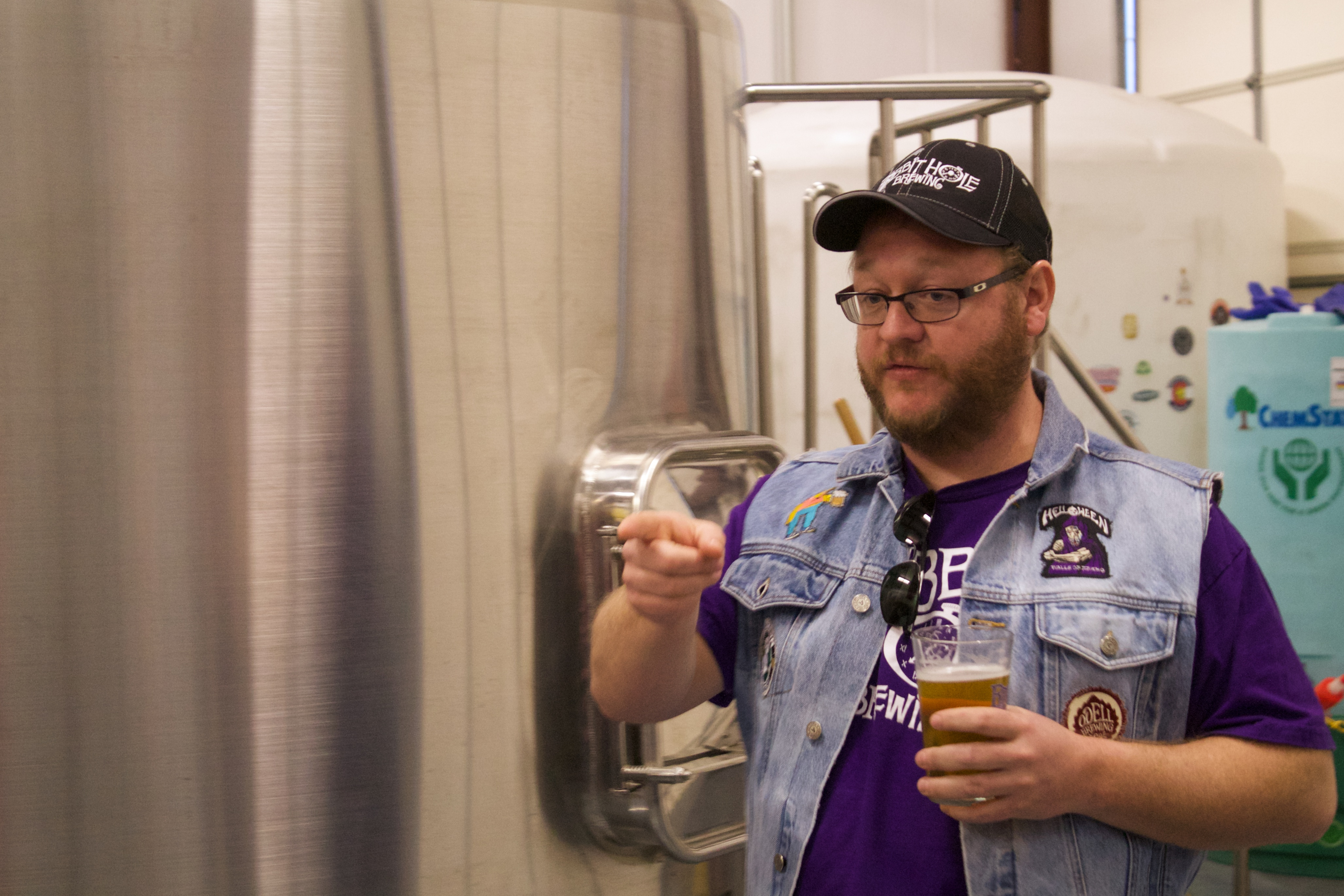 Rabbit Hole Brewing founder Tom Anderson gives a brewery tour on Jan. 18,2014.