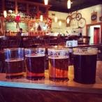 Barley's local beer flight