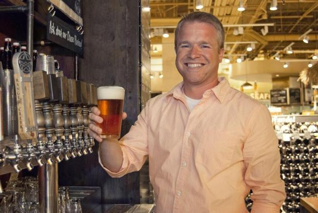 Whole Foods Market Brewing Co.'s brewmaster Dave Ohmer loves being able to make beers with fresh seasonal ingredients he can get only feet away from the brewhouse.