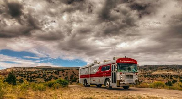 Photo by Tyler Malone. The Beerliner makes the annual drive up to Denver for the Great American Beer Festival every year to raise money for 1400 Miles' cause of prostate cancer awareness and prevention.